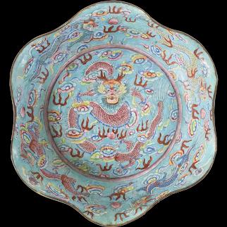 Chinese Canton Peking Enameled Dragon Bowl