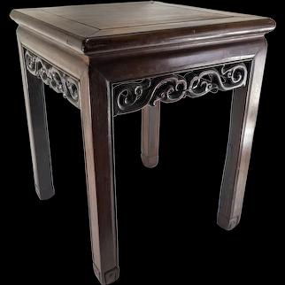 Chinese Hongmu Rosewood Side Table Stool