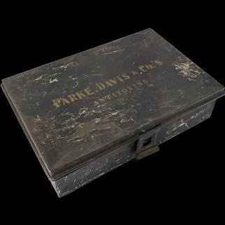 Painted Toleware Parke, Davis & Co Antitoxin Box