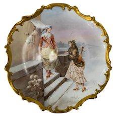French Sevres Porcelain Plaque Signed Armand