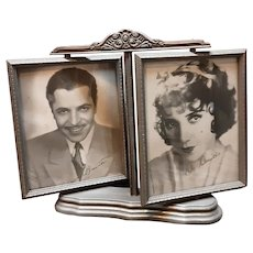 Double Swivel Picture Frame With Pictures