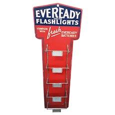 Eveready Flashlight Display Rack