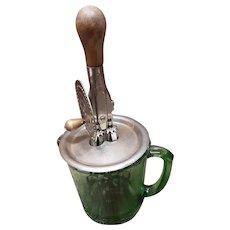 Green Glass Beater Jar