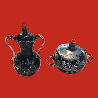 Vintage delicate Christmas ornaments-Coffee and Urn