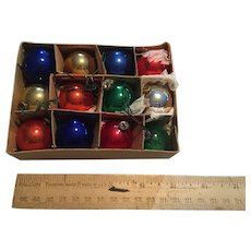 Complete box of Vintage miniature feather tree ornaments