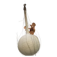 Vintage Victorian wire wrapped balloon ornament
