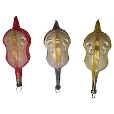 Set of 3 Vintage German Victorian Violin ornaments