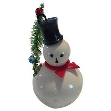 Rosbro Vintage hard plastic snowman Candy container