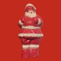 "Irwin Vintage 3"" tall hard plastic Santa Candy Container"