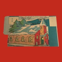 Very OLD Vintage SANTA Cardboard BOX CANDY container