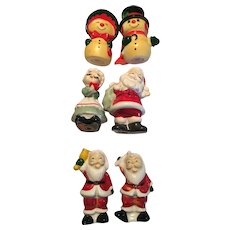3 sets of Christmas SALT & PEPPER Shakers
