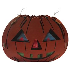 Vintage 2 sided SMILING Dolly Toy Co. Halloween Pumpkin Jack-O-Lantern
