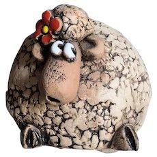 Artesania Rinconada Sheep Figurine with Red Bow
