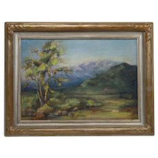Mary Richards Sherer: California Oil on Board