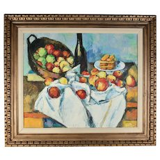 After Paul Cézanne, the Basket of Apples, Original Oil on Canvas