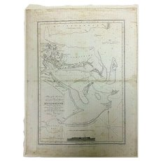 Antique Nautical Chart- Henry Salt, Esq., 1809 Map of Mozambique