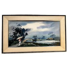 G.D. Arul Raj (India / America, 1925-1975), Barsat Monsoon, Original Watercolor Painting