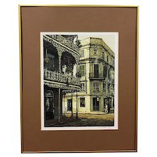 Serigraph, French Quarters, New Orleans, Artist Signed (Illegible), 19/300