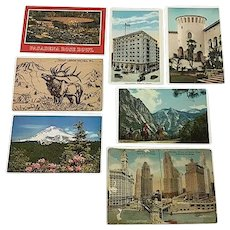 Vintage American Postcards - Lot of 7 (Includes unposted Chicago foldout)