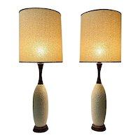 Danish Mid-Century Lamps, Original Shades