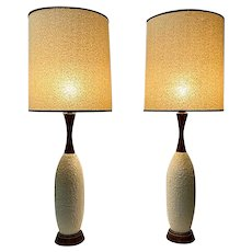 Danish Mid-Century Lamps, Original Shades