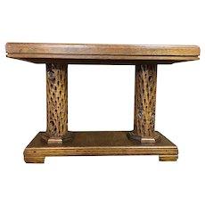 Hand Made Mahogany and Cactus Wood Footstool