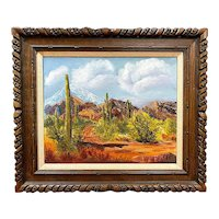 Southwest Landscape, Original Oil on Canvas, Unsigned