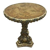 Mid-Century Gold Rococo Style Side Table, Anson Mfg. Co., Gold
