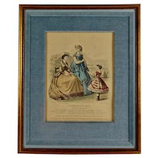 Le Moniteur De La Mode, 19th Century French Fashion Print, Jules David