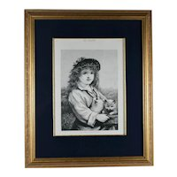 The Young Foster Mother, Framed Reproduction Print