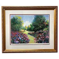 Alex Perez (Chilean, 1946-), Garden in the Woods, Signed Serigraph, C. 1990