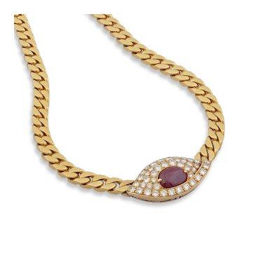 Ruby & Diamond Necklace by Nicolis Cola