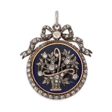 Victorian Diamond 'Jardiniere' Pendant Necklace