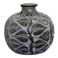 """René Lalique """"Sophora"""" a Grey Glass Vase"""