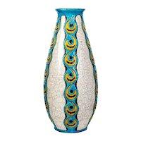 Art Deco Earthenware Vase, France, circa 1920
