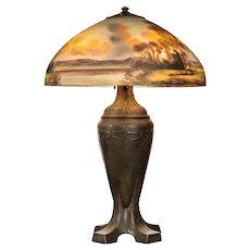 Handel Reverse Painted Table Lamp, circa 1920