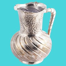 Rogers, Smith & Co massive silver plated water jug