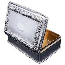 A Huge Solid Silver Table Snuff Box - Daniel & John Wellby 1912