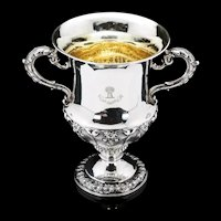 A Magnificent Georgian Two Handled Cup / Trophy in Campagna Form - Barnard 1829