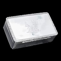 A Thick Solid Silver Table Snuff Box Georgian - Edward Edwards 1833 Active