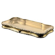 A Rare Georgian Solid Silver Gilt Snuff Box with Rock Crystal - Charles Rawlings & William Summers, 1833
