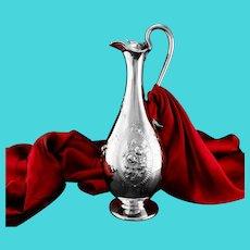 Antique Victorian Solid Silver Claret Jug / Wine Ewer - Elkington 1864