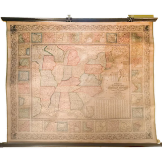 Mitchell's National Map of the American Republic or United States of North America