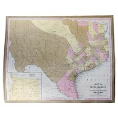 Map of Texas from the Most Recent Authorities