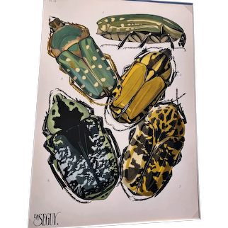 E. A. Seguy, Insectes (Insects) - Plate 12