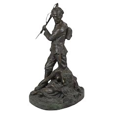 "1918 ""Casualties of War"" Richard Claude Belt Bronze Sculpture"