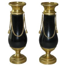 Pair of Baltic Neoclassical Cassolettes