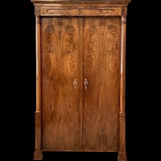Fine Early 19 Century Biedermeier Two Door Small Armoire