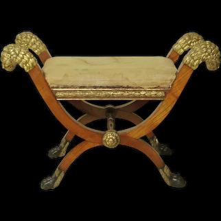 Very Fine Period Empire Bench