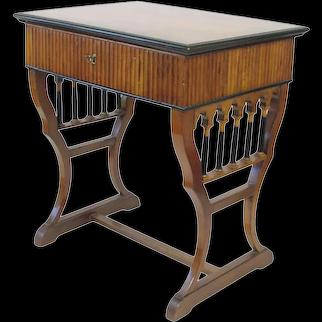 Early 19th Century Neoclassical Biedermeier Walnut Work/Writing Table